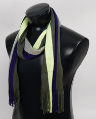 Scottish Large Multi-Stripe Winter Scarf  - Olive