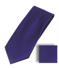 Antonia 100% Woven X-Long Silk Necktie with Pocket Square - Dark Purple