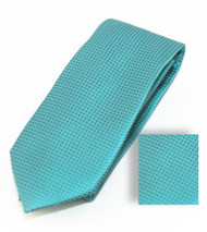 Antonia 100% Woven X-Long Silk Necktie with Pocket Square - Teal