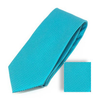 Antonia 100% Woven X-Long Silk Necktie with Pocket Square - Turquoise