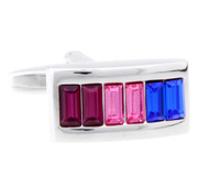 Multi-Color Crystal Cufflinks (V-CF-C60136M)