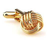Gold Love Knot Cufflinks (V-CF-M62757G)