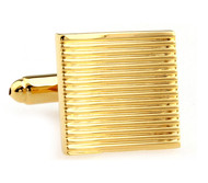Gold Square Cufflinks (V-CF-M50174-G)
