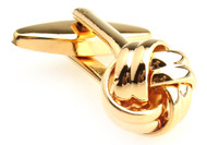 Small Gold Love Knot Cufflinks (V-CF-56532-G)