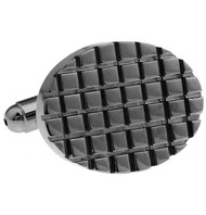Notched Tungsten Cufflinks (V-CF-63884T)