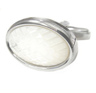 Laser Engraved Mother of Pearl Cufflinks (V-CF-G60656)
