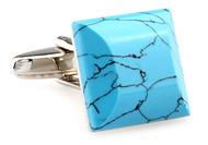Genuine Turquoise Cufflinks (V-CF-66815)