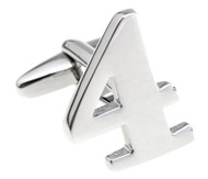 Number 4 Cufflinks - Choose 2nd Number (V-CF-M454S)