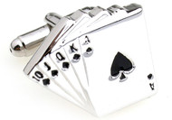 Royal Flush Card Cufflinks (V-CF-70025)