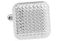Silver Puff Square Cufflinks (V-CF57946)