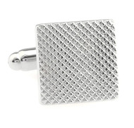 Silver Square Cufflinks (V-CF-M50285S)