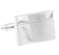 Silver Wave Design Cufflinks (V-CF-M70612S)