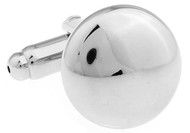 Small Silver Button Cufflinks (V-CF-56164)