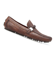 Belvedere Genuine Shark Skin Driver Shoe - Tobacco Brown