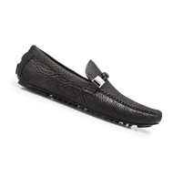 Belvedere Genuine Shark Skin Driver Shoe - Black