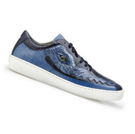 Belvedere Genuine Crocodile and Lizard Sneaker - Blue