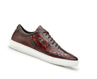 Belvedere Genuine Crocodile and Lizard Sneaker - Brown