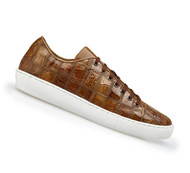 Belvedere Genuine Patch Design Crocodile Sneaker - Honey