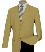 Lucci 2-Button Gold Blazer