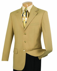 Lucci 3-Button Gold Blazer