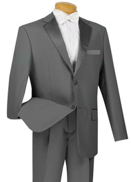 Lucci Classic Grey 2-Button Budget Tuxedo - Pleated Slacks