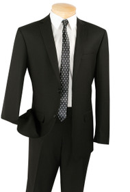 Vinci 2-Button Black Classic Suit - Slim Fit