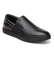 Belvedere Calf Leather Slip-On Casual Shoe - Black