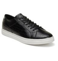 Belvedere Croc Embossed Calf Leather Sneaker - Black