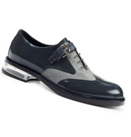 Mauri Genuine Grey Crocodile, Suede and Leather Italian Dress Shoe