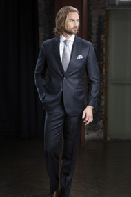 MaxDavoli 2-Button Super 150's Wool Pinstripe Suit