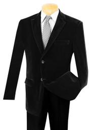 Vinci Black Velvet Sportcoat