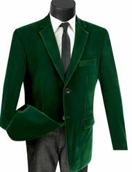 Vinci Emerald Green Velvet Classic Sportcoat