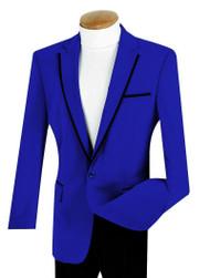 Vinci Royal Blue Trimmed Velvet Sportcoat