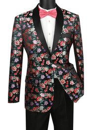 Vinci Floral Sateen Slim Fit Sportcoat