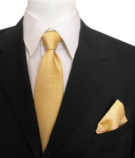 Antonia Silk Tie w/Pocket Square - Golden Yellow