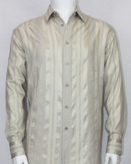 Bassiri Sand Ribbon Weave Long Sleeve Camp Shirt