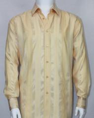 Bassiri Gold Ribbon Weave Long Sleeve Camp Shirt