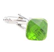Petite Green Crystal Cufflinks (V-CF-C61079-GR)