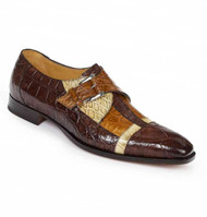 Mauri Genuine Multi Color Alligator Monk Buckle Dress Shoe
