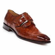 Mauri Genuine Alligator Strap-Over Buckle Dress Shoe