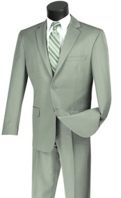 Vinci 2-Button Light Sage Classic Suit - Slim Fit