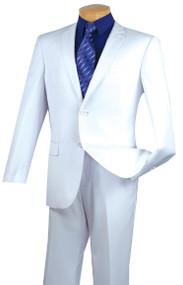 Vinci 2-Button White Classic Suit - Slim Fit