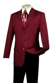 Lucci 3-Button Burgundy Blazer