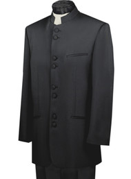 Lucci 8 Button Banded Collar Fashion Suit