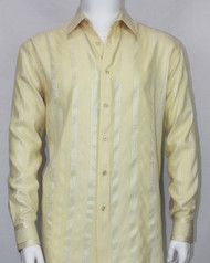 Bassiri Yellow Ribbon Weave Long Sleeve Camp Shirt