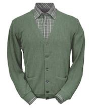 Peru Unlimited Baby Alpaca and Wool Cardigan Sweater - Soft Green