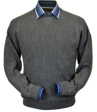 Peru Unlimited Baby Alpaca and Wool Sweatshirt Sweater - Medium Grey