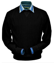 Peru Unlimited Baby Alpaca and Wool Sweatshirt Sweater - Black