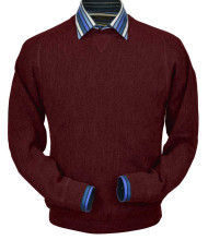 Peru Unlimited Baby Alpaca and Wool Sweatshirt Sweater - Burgundy
