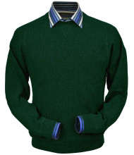 Peru Unlimited Baby Alpaca and Wool Sweatshirt Sweater - Forest Green